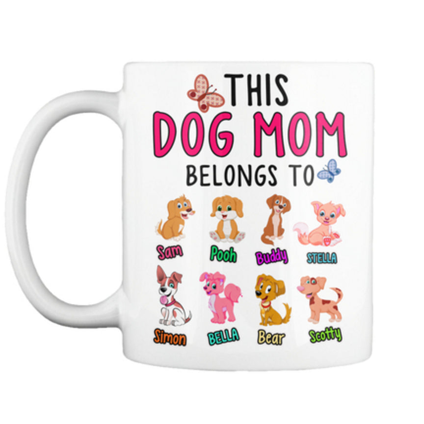 Dog - This Dog Mom Belongs To...Mug - Personalized