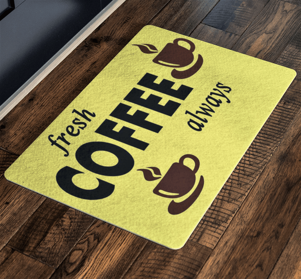 """Fresh Coffee Always"" For Home and Workplace Special Doormats Exclusive ( Best price Deal)"