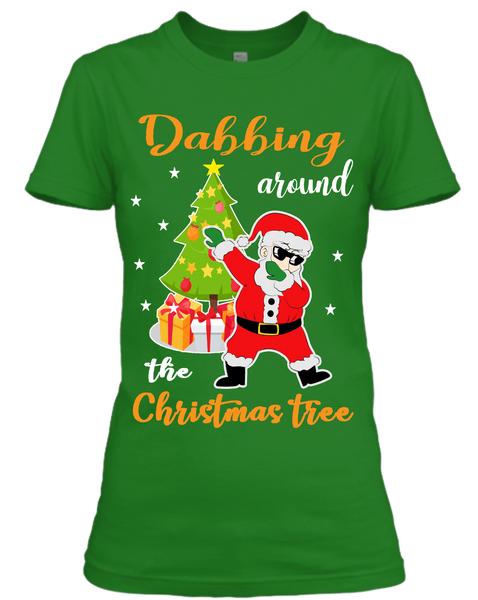 """DABBING AROUND THE CHRISTMAS TREE"" (UNISEX T-SHIRT)"