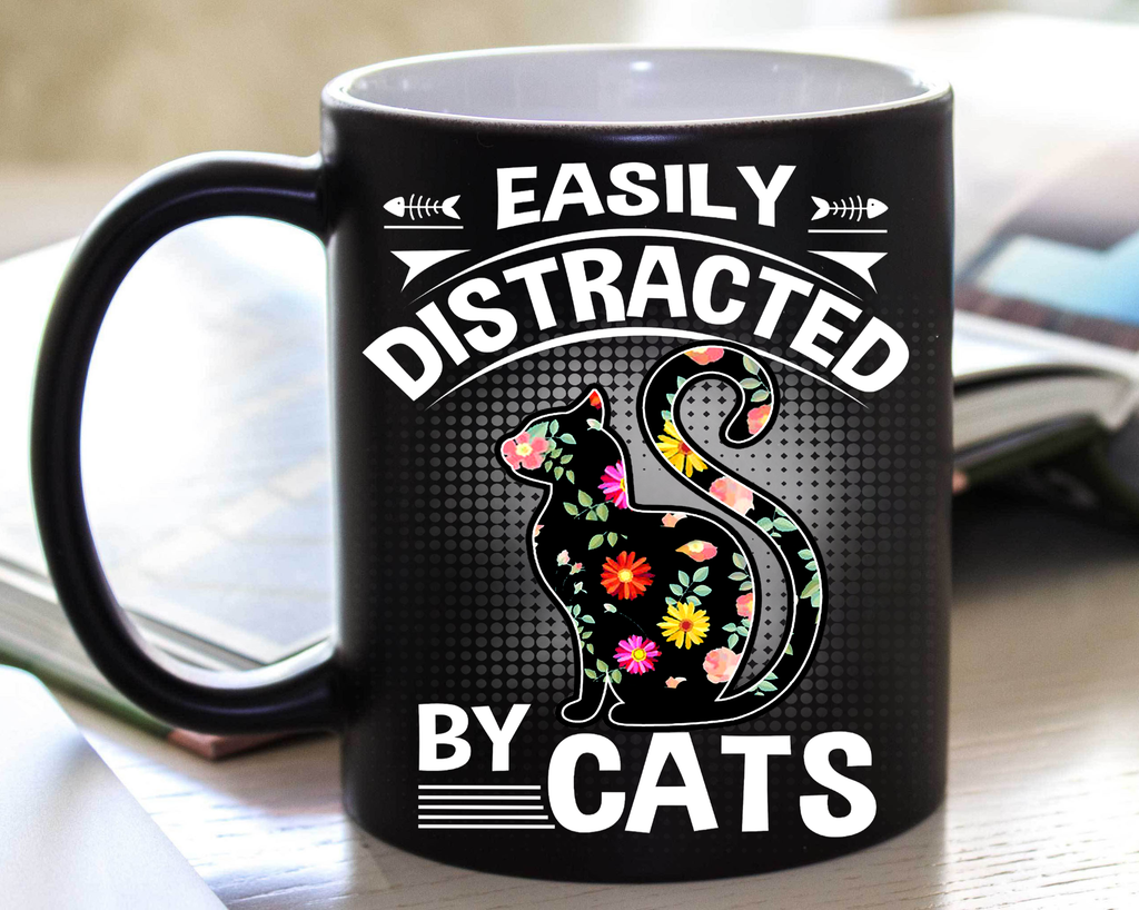 Distracted by Cats (Special Mugs 50% off today) Flash sale for Cat Lovers