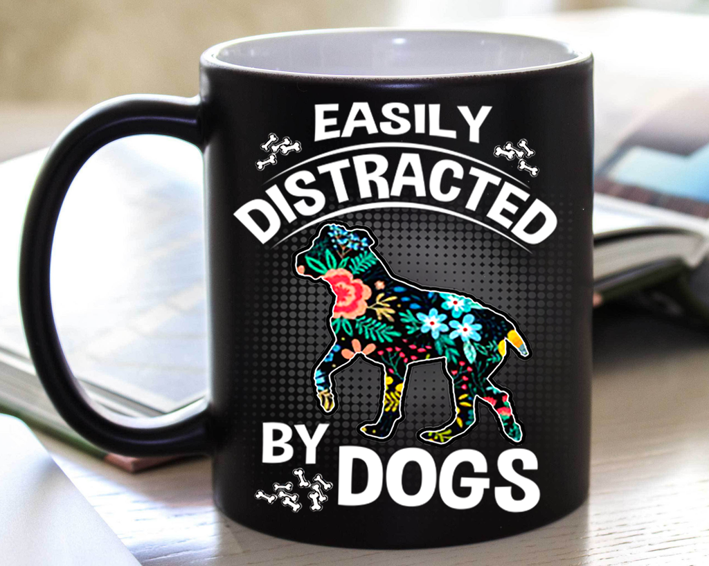 Distracted by Dogs (Special Mugs 50% off today) Flash sale for Dogs Lovers