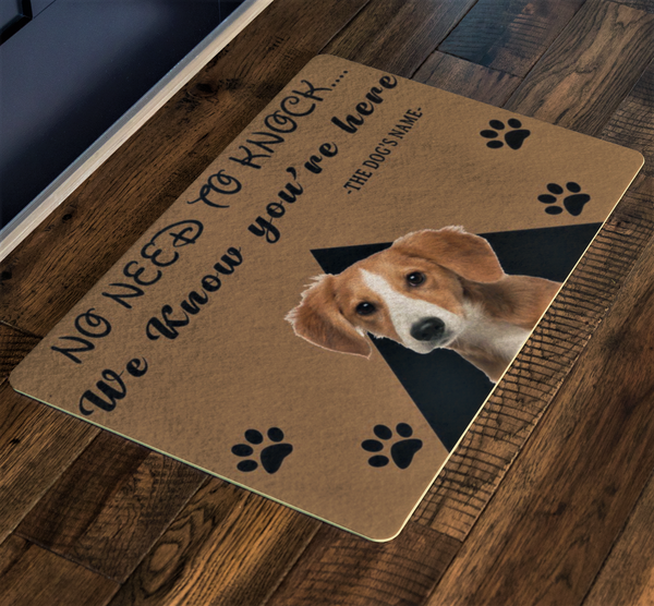 No Need To Knock Customize Dog Name and Dog Picture , Pets Special Doormat For Homes Exclusive ( Best price Deal)