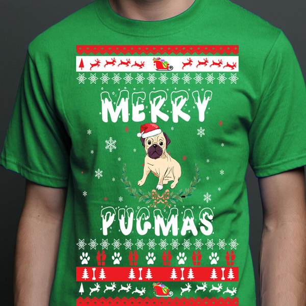 """MERRY DOGMAS"". 70% Off Today Only.(DOG DESIGN)"