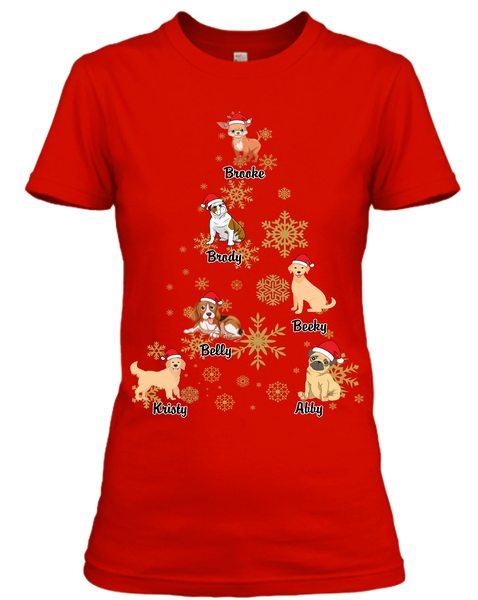 """Christmas tree dog Special with Personalize Dog name and Characters""(50% off Today)"