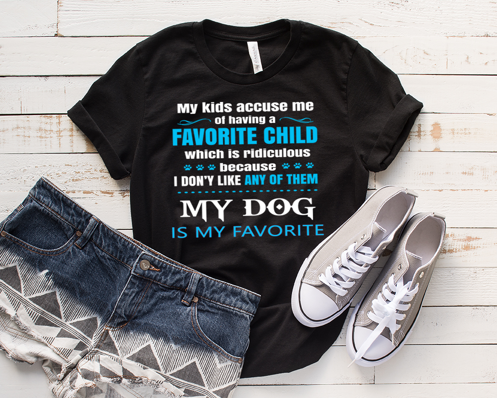 """MY KIDS ACCUSE ME""- T-Shirt."