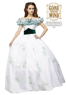 Gone with the Wind Womens Scarlet O' Hara Twelve Oaks Dress