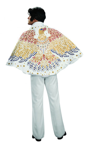 Deluxe White Elvis Eagle Cape