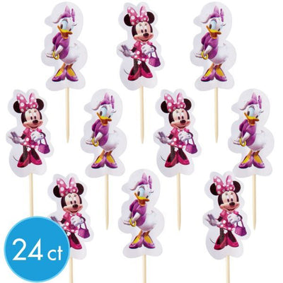 Minnie Mouse/ Daisy Duck Cupcake Picks /24 Count