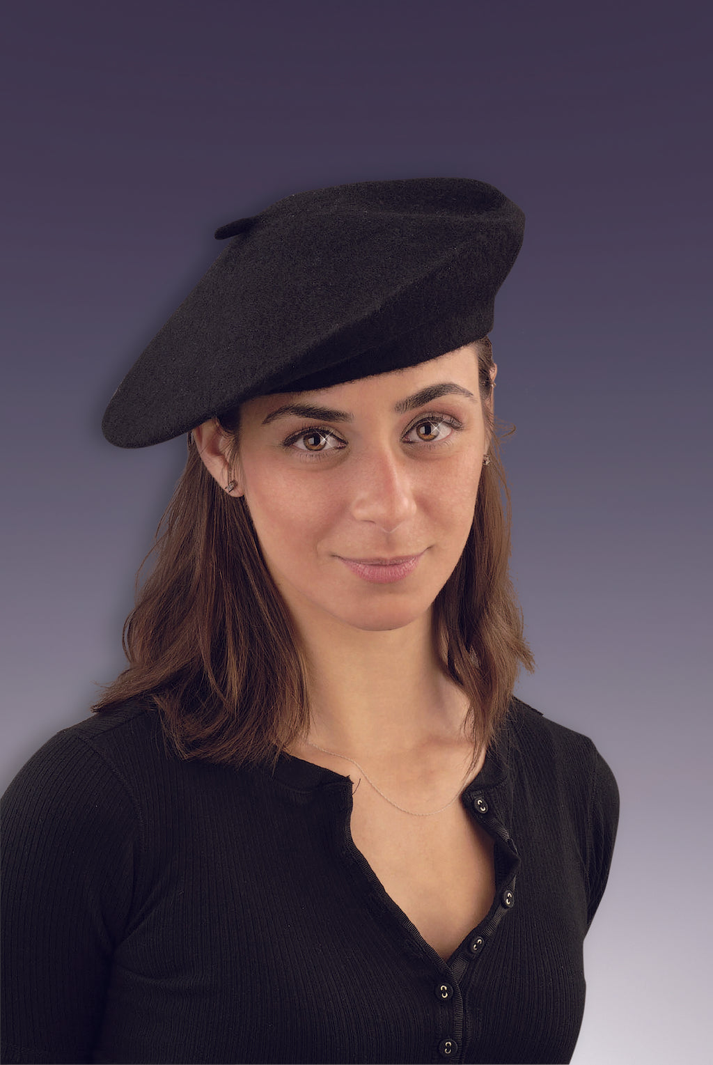 Black French Beret Hat
