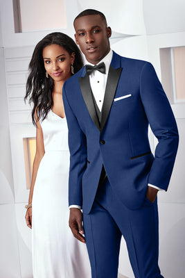 Ike Behar Ultra Slim Tribeca Blue Tuxedo