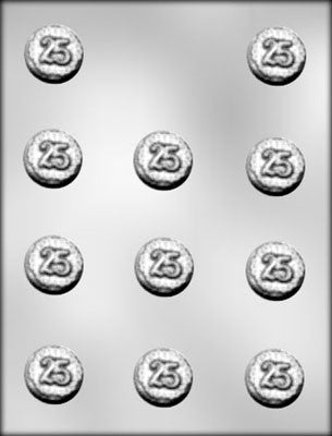 25th Anniversary Mint Chocolate Mold