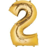 "34"" Gold Number Balloon - 2"