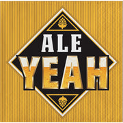 Beers and Cheers - Ale Yeah Beverage Napkins -16 Count -2 Ply
