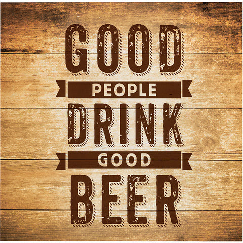 Beers and Cheers - Good People...Beverage Napkins -16 Count -2 Ply