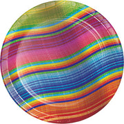 Serape Dessert Plates - 8 Count/7 inches.