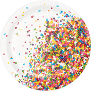 "Sprinkles Party - Small 7"" Dessert Plates/ 8  count"