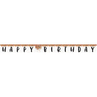 Sprinkles Party - Happy Birthday Banner - 10' x 7""