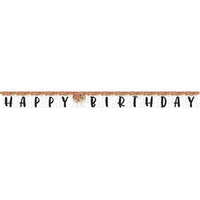 Sprinkles Party - Happy Birthday Banner - 10' x 7