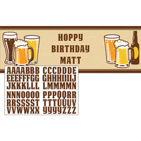 Beers and Cheers -Giant Party Banner - 20 x 60