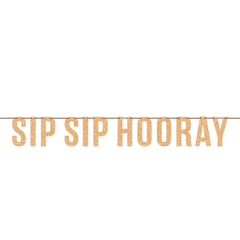 Beers and Cheers - Sip Sip Hooray Letter Banner