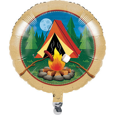 Camp Out Mylar Balloon 18""