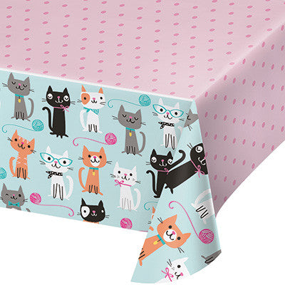 Purr-Fect Party Table Cover