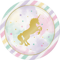 "Unicorn Sparkle 9"" Luncheon Plates"