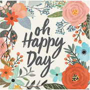 """Oh Happy Day"" Napkins - Beverage Napkins -16 Count/3 Ply"