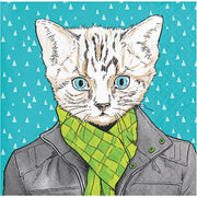 Dapper Cat Napkins - 24 Count