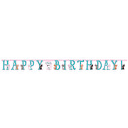 Purr-Fect Party Jointed Happy Birthday Banner - 10' x 7""