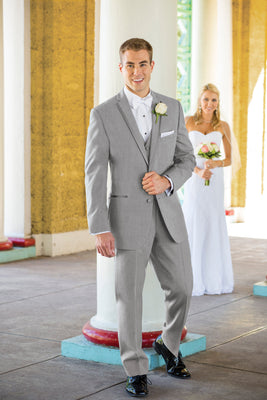 Heather Grey Aspen Slim Fit Tuxedo