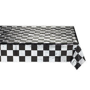 Black & White Check  Table Cover