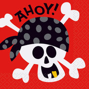 Pirate Fun Beverage Napkins / 16 Count / 2 Ply