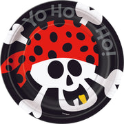 "Pirate Fun Dessert Plates - 7"" / 8 Count"