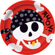 "Pirate Fun Luncheon Plates /9""/ 8 Count"