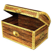 "Treasure Chest Decoration/ Centerpiece/  Large 11.75 "" x 8"""