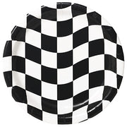"Black & White Check - 7"" Plates - 8 Count"