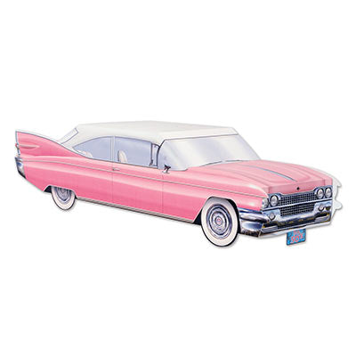 50's Cruising  Car Centerpiece / Pink Cadillac