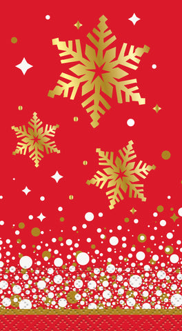 Gold Sparkle Christmas- Guest Towels/ 16 Count/3 Ply