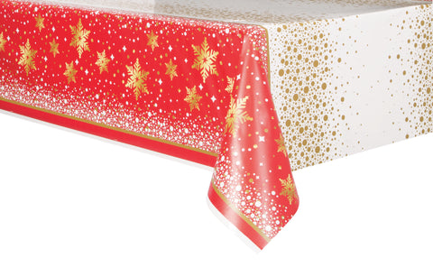 Gold Sparkle Christmas - Tablecover 54 x 84 Plastic