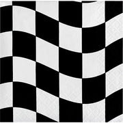 Black & White Check - Dessert Napkins - 18 Count