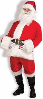 Complete Adult Santa Claus Costume with Beard