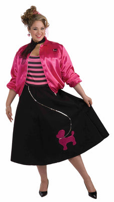 Plus Size Women's Poodle Skirt Set
