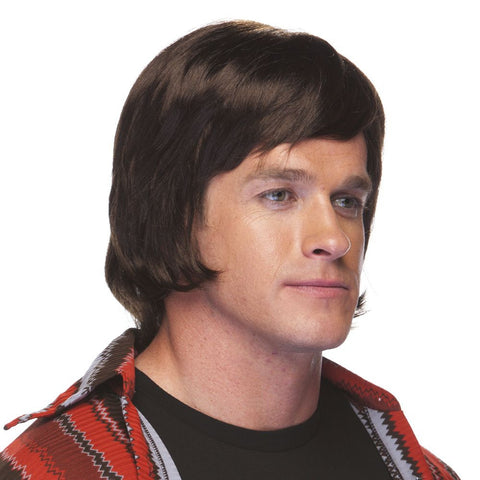 70s Guy Deluxe  Shag Wig Brown