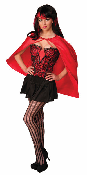 Short Red Fantasy Cape