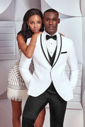 Ike Behar Waverly White with Black Trim Tuxedo