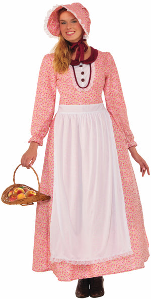 Adult Pink Pioneer Lady Dress Costume