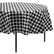Round Table Cover/ Black and white Table Cover