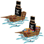 "Pirate Ship 3-D Centerpiece 25.5 x 18.5"" Assembled"