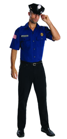 Dark Blue Police Officer Adult Costume